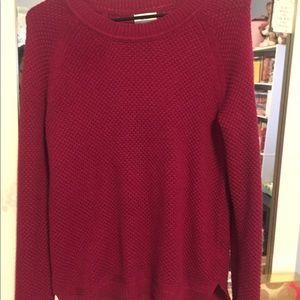 Women's magenta sweater